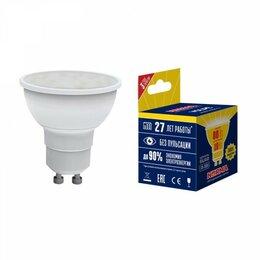 Лампочки - лампа светодиодная volpe norma led-jcdr-10w gu10 рефлекторная 3000к, 0