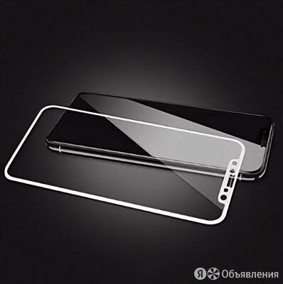 Защитное стекло Apple iPhone XS Max на дисплей, 4D, белый по цене 290₽ - Защитные пленки и стекла, фото 0