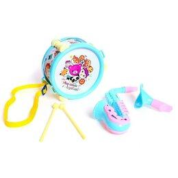 Детские наборы инструментов - Набор музыкальных инструментов «Зверятки», 5 предметов, цвета МИКС, 0