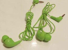 Наушники и Bluetooth-гарнитуры - Наушники проводные моно, зелёные, 0