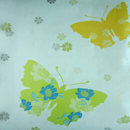 Самоклеящаяся пленка - 45-3401 В пленка самоклеящаяся HONGDA Color Deсor 0,45*8м декор бабочки, 0