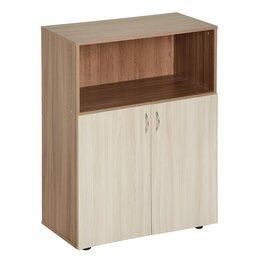 Шкафы для документов - Шкаф для документов средний с нижними дверями 800х420х1165 Ясень шимо светлый..., 0