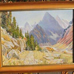 Картины, постеры, гобелены, панно - картина Клухорский перевал,холст,масло,художник Семёнов, 0