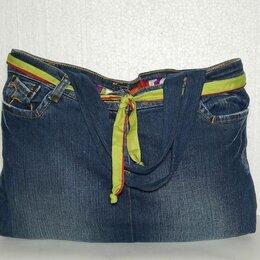 Сумки - Сумка джинсовая с карманами., 0
