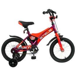"""Велосипеды - Велосипед 14"""" Stels Jet, Z010, цвет фиолетовый/оранжевый 6259701, 0"""