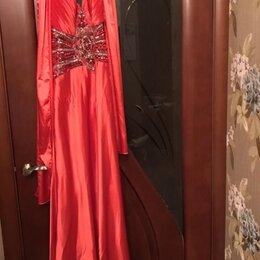 Платья - Вечернее платье с шарфиком, 0
