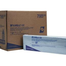 Промышленная химия и полимерные материалы - Протирочные салфетки WypAll® X80, нетканые, в пачках, синие (цена за упаковку), 0