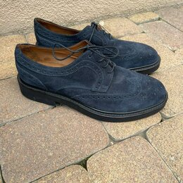 Туфли - Замшевые туфли мужские броги, 0