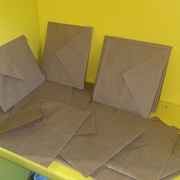 Скрапбукинг - Крафт конверт 9х10 см квадратный , 0