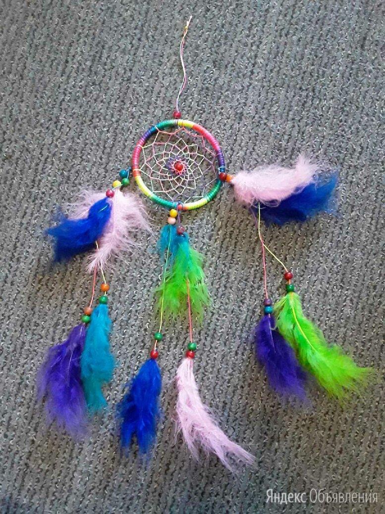 Новый Ловец снов разноцветный с перышками по цене 200₽ - Сувениры, фото 0