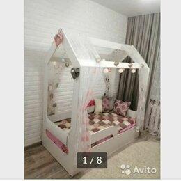 Кроватки - Детская кровать домик для девочки, 0