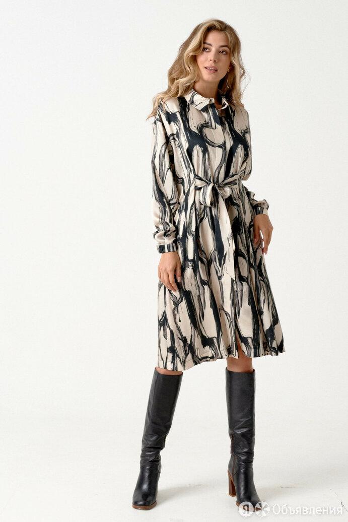 Платье 1848 ELLETTO LIFE черно-бежевое Модель: 1848 по цене 4914₽ - Платья, фото 0