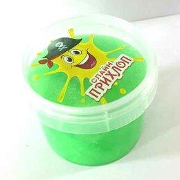 Мыльные пузыри - Слайм прихлоп Перламутровый зеленый 100 грамм, 0