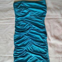 Платья - Платье коктейльное с драпировкой р-р 38-40, 0