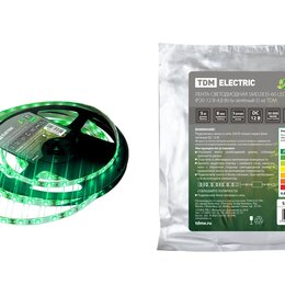 Светодиодные ленты - Лента LED 4.8Вт 12В Зеленая 60LED/м IP20 SMD2835 TDM 0331-0304, 0