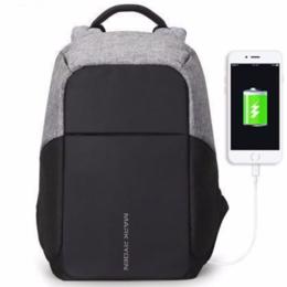 Рюкзаки, ранцы, сумки - Рюкзак антивор Mark Ryden Mocchasio + USB (черно серый), 0