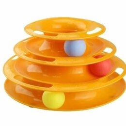 Игрушки - Игрушка для кошек Трек пластиковый трехэтажный с мячиками, 0