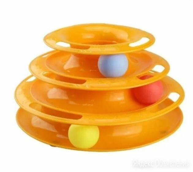 Игрушка для кошек Трек пластиковый трехэтажный с мячиками по цене 500₽ - Игрушки, фото 0