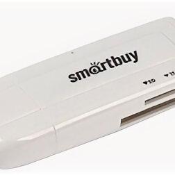Аксессуары и запчасти для оргтехники - Карт-ридер, USB 3.0, Smartbuy SBR-705, Micro SD, SD, белый, 0