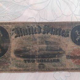 Банкноты - Банкнота 2 доллара сша 1917 года, 0