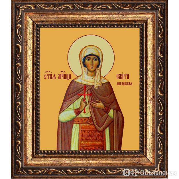 Злата Могленская великомученица. Икона на холсте. по цене 2090₽ - Картины, постеры, гобелены, панно, фото 0
