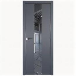 Межкомнатные двери - Межкомнатные двери Profil Doors 25E Антрацит Зеркало Кромка Матовая с 4-х сто..., 0