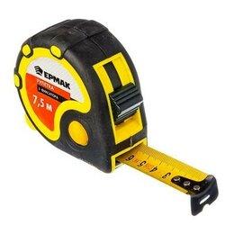 Измерительные инструменты и приборы - ЕРМАК Рулетка 7.5 м 3 фиксатора, двукомпонент. корпус 658-126, 0