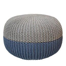 Пуфики - Пуф вязаный круглый, 0