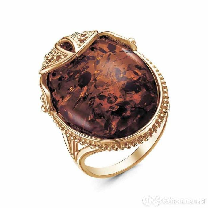 Кольцо 'Янтарь', корона,  позолота, 19 размер по цене 869₽ - Украшения на тело, фото 0