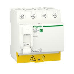 Концевые, позиционные и шарнирные выключатели - SE RESI9 Выключатель дифференциального тока (УЗО) 63А 4P 300мА тип A-S, 0