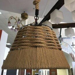 Люстры и потолочные светильники - Подвесной светильник из джута в стиле лофт, 0