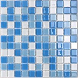 Мозаика - Мозаика Tessare 30,5х30,5х0,4см стекло бело-голубой шт(HJM04), 0