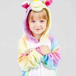 Кигуруми - ЯРКАЯ Пижама кигуруми Радужный единорог ПРЕМИУМ , детский, 6-7 лет (115-125 см), 0
