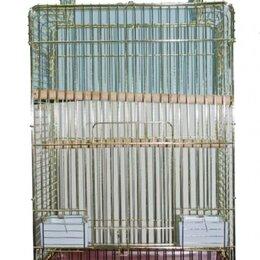 Клетки и домики - N1 Клетка для птиц,  52*41*78,  золотая, прямоугольная, укомплектованная., 0