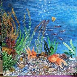 Картины, постеры, гобелены, панно - Картина маслом. Подводный мир. Холст на ДВП. 60х60, 0