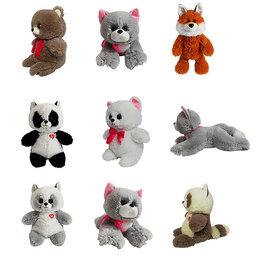 Мягкие игрушки - Мягкие игрушки и рюкзачок в виде животных, 0