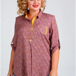 Толстовки - Блуза 62274-1 Таир-Гранд фуксия цветы Модель: 62274-1, 0