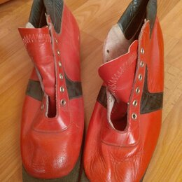 Ботинки - Лыжные ботинки СССР новые утеплённые размер 44-45, 0