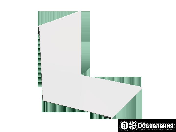 Планка угла внутренний 50 50 0.45 3м стандарт ПЭ RAL9003 сигнально-белый К-504 по цене 275₽ - Кровля и водосток, фото 0