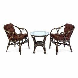 Плетеная мебель - Мебель ротанговая Комплект кофейный Terrace Set 11/05 браун, 0