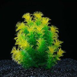 Растения для аквариумов и террариумов - Растение искусственное аквариумное, 15 х 12 х 18 см (комплект из 2 шт.), 0