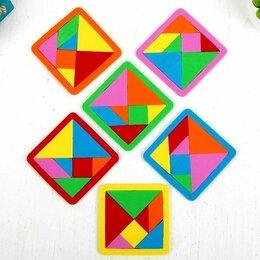 Головоломки - Игра-головоломка Танграм из мягкого материала EVA, 0