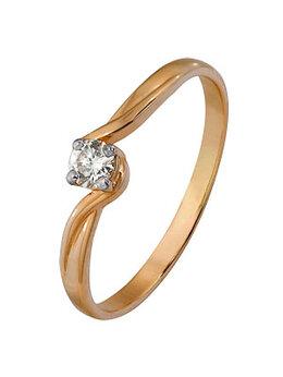 Кольца и перстни - 1000202613 Кольцо (Au 585) (15.5) Алмаз-Холдинг, 0