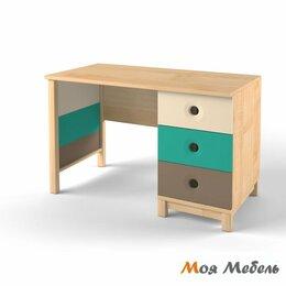 Компьютерные и письменные столы - Стол с тумбой универсальный аква «Робин Wood», 0