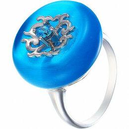 Комплекты - Element47 кольцо серебро вес 7,32 вставка фианит, кошачий глаз арт. 743563, 0