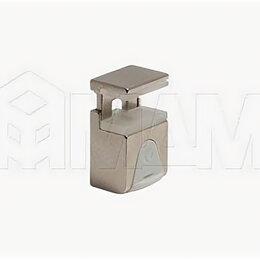 Витрины - Полкодержатель KUBIC для стекл полок 4-9мм под саморез, НИКЕЛЬ, 0