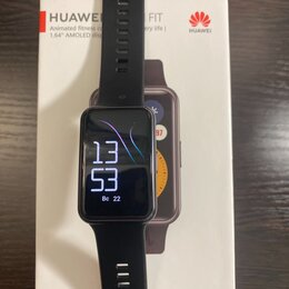 Умные часы и браслеты - Смарт часы Huawei watch fit black, 0