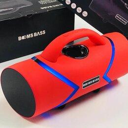 Портативная акустика - Колонка портативная BOOMS BASS L20 с неоновой подсветкой Красная Новинка, 0
