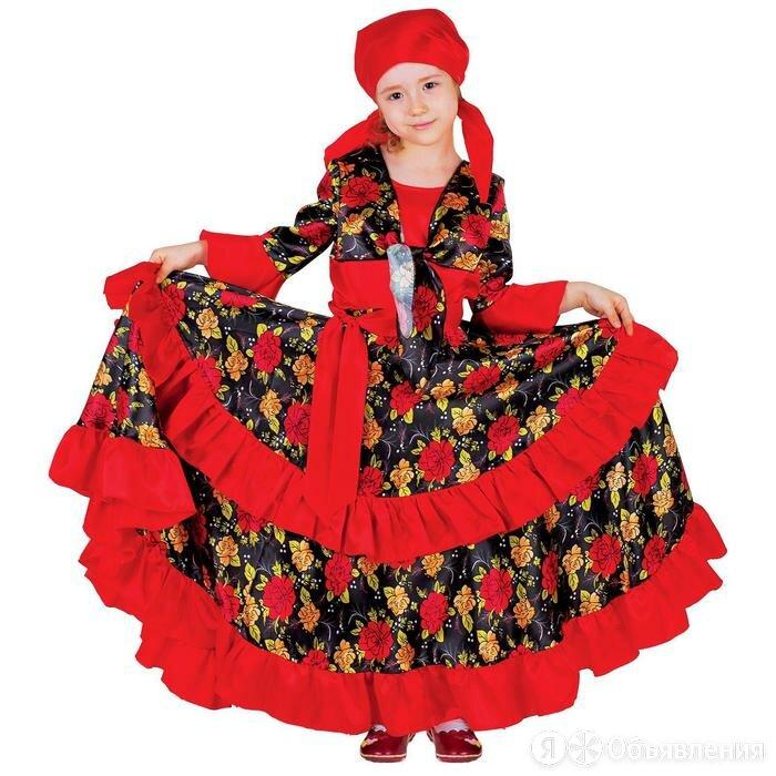 Карнавальный цыганский костюм для девочки, красный с двойной оборкой по юбке,... по цене 1809₽ - Другое, фото 0