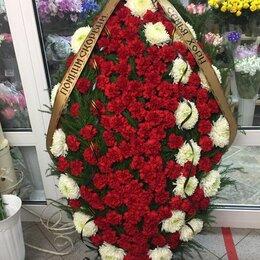 Цветы, букеты, композиции - Венок из гвоздик на похороны, 0